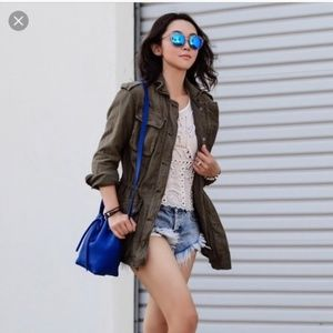 Free People Jackets & Coats - FREE PEOPLE not your brother green military jacket